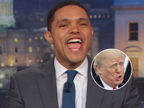 Trevor Noah Thinks Trump Is 'Woke' for Calling Elizabeth Warren 'Pocahontas'