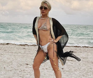 Lady Gaga Slips Into a Bikini In Miami Beach