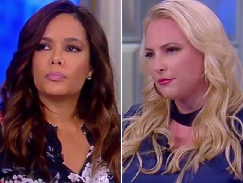 'The View' Gets Incredibly Tense When Sunny Hostin, Meghan McCain Battle About Trump Voters