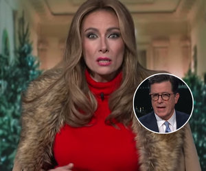 'Late Show' Melania Trump Returns to Talk Christmas and Chimney Escape Plan