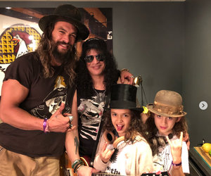 Momoa and Bonet's Kids Hang with Guns N' Roses and They're Total Rockstars