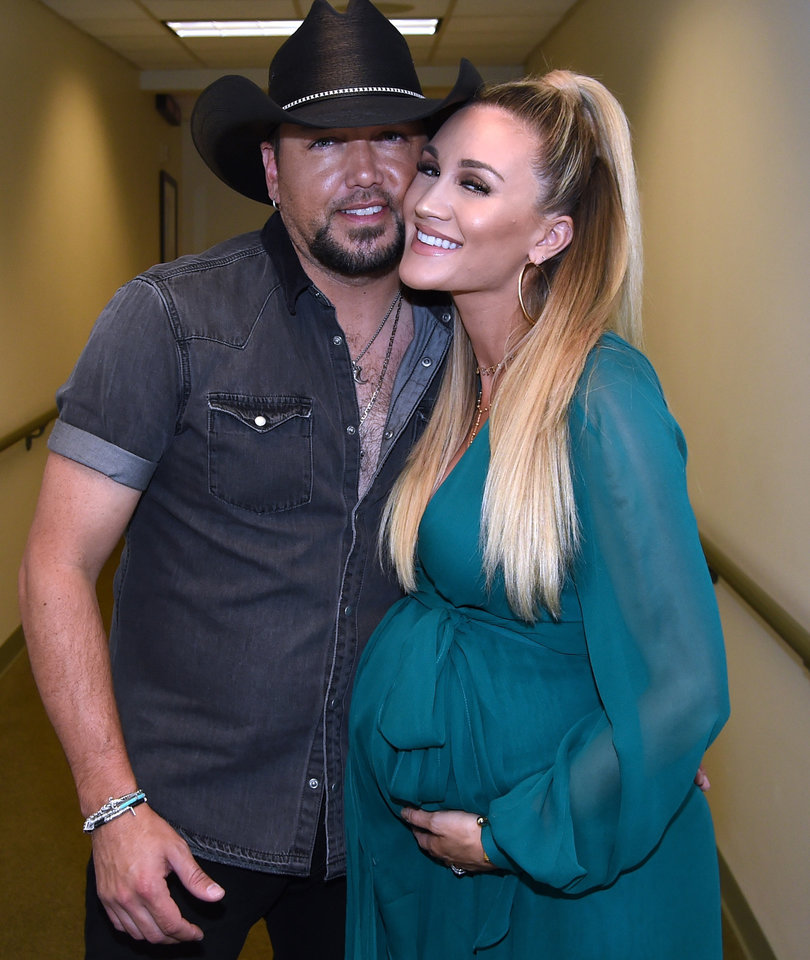 Jason Aldean Welcomes Son Memphis with Wife Brittany