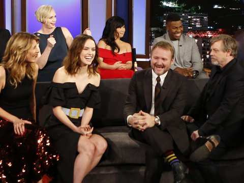 4 'Star Wars' Revelations and LOL Moments From 'Last Jedi' Cast on Kimmel