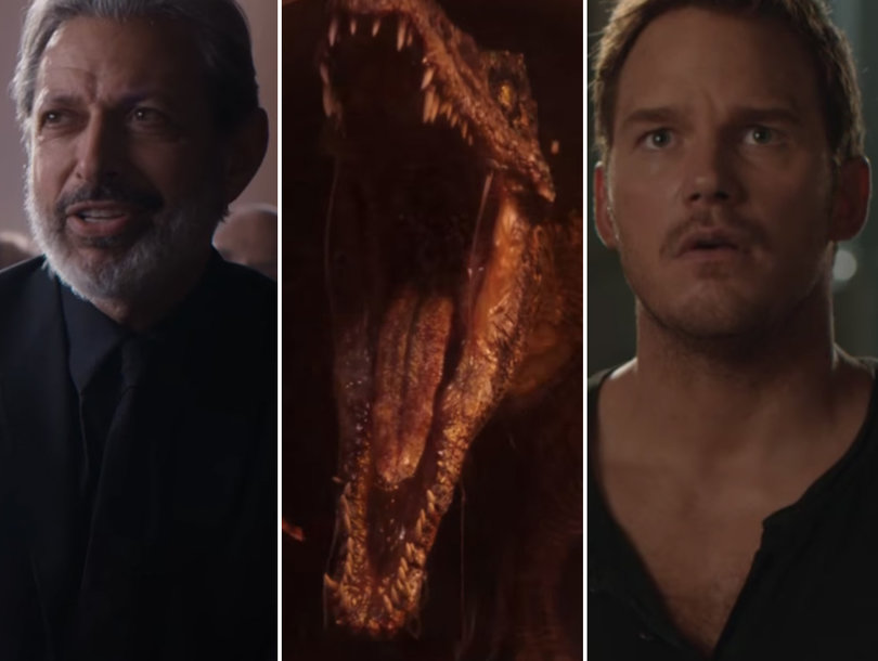 'Jurassic World: Fallen Kingdom' Sneak Peek: First Jeff Goldblum Footage and Major Dinosaur Mayhem