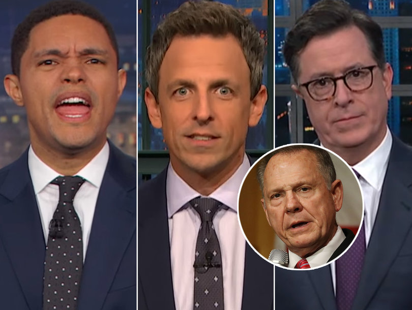 Late-Night Stars Stunned Roy Moore Still Has Supporters -- Including President Trump