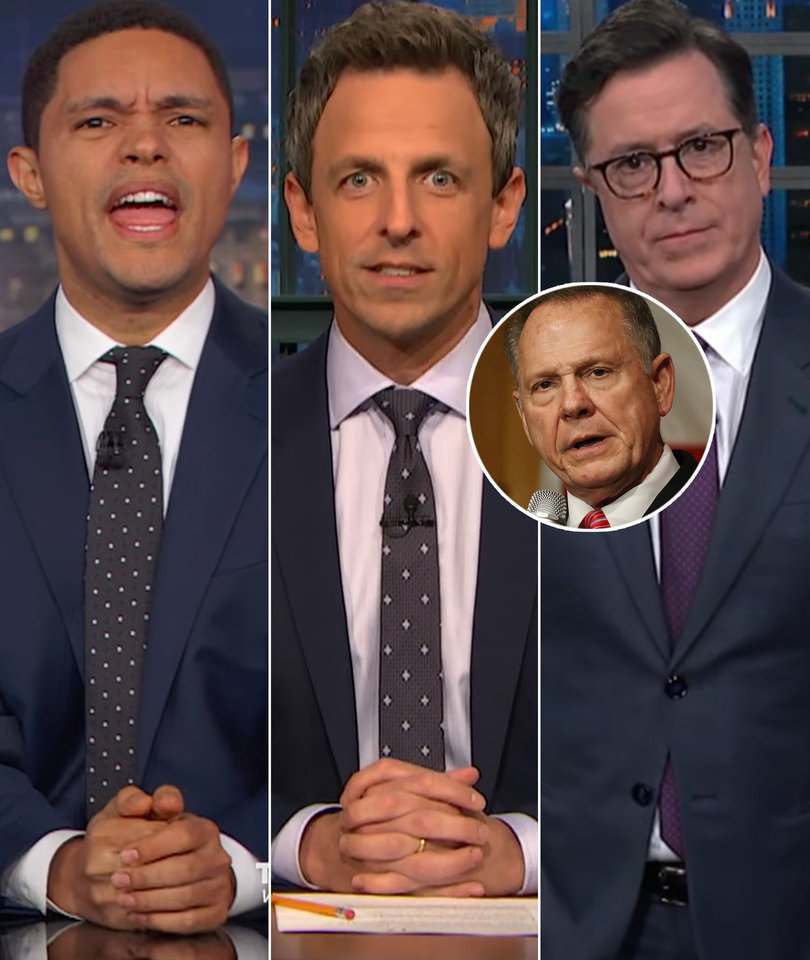 Late-Night Stars Stunned Roy Moore Still Has Supporters (Like Trump)