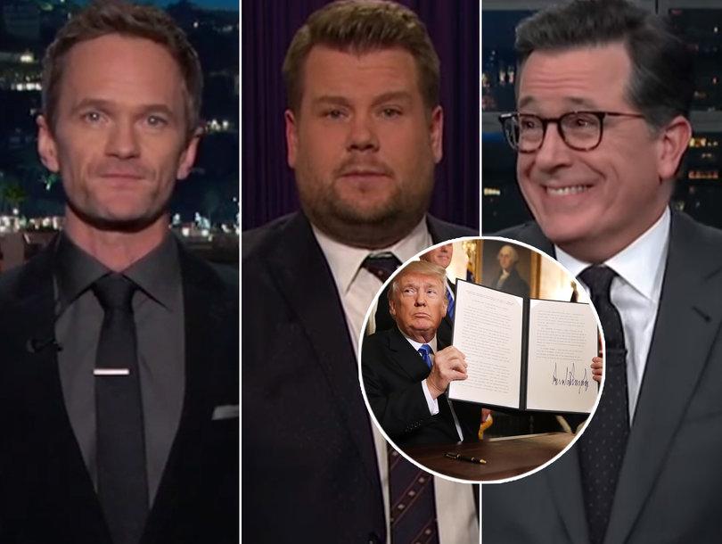 Late-Night Hosts LOL Hard as Trump Slurs Through Jerusalem Speech