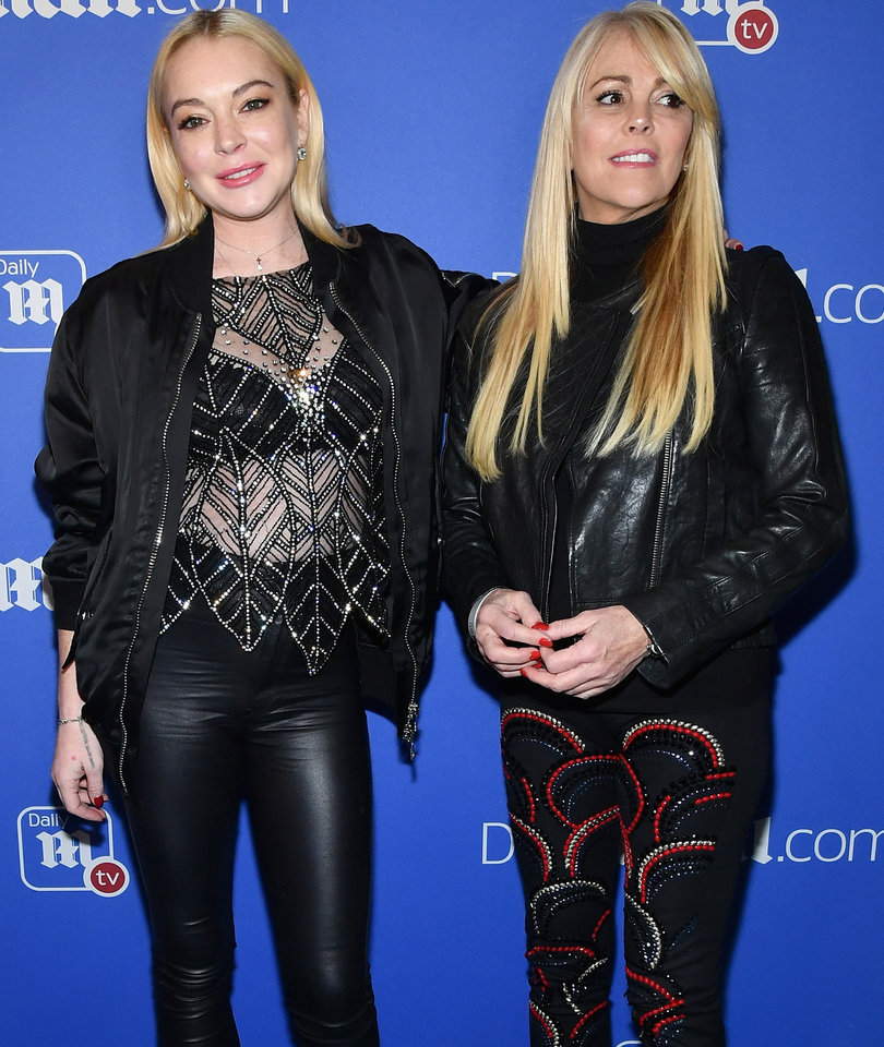Lindsay Lohan Makes Rare U.S. Appearance with Mom Dina