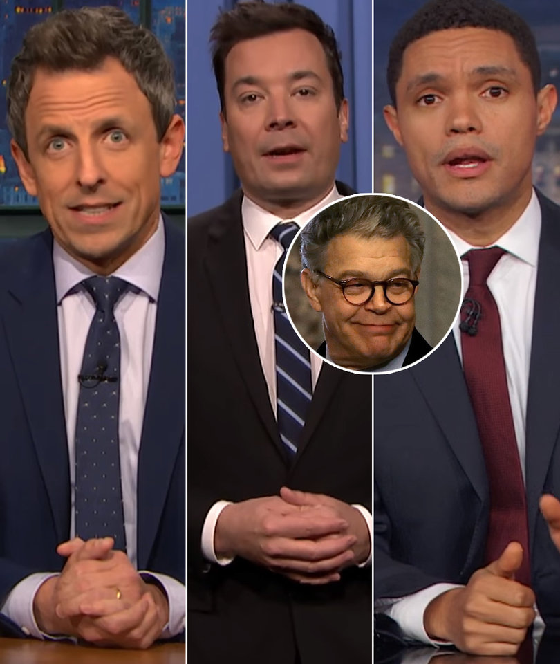 Late-Night Hosts Take Shots at Trump and GOP After Al Franken's Resignation