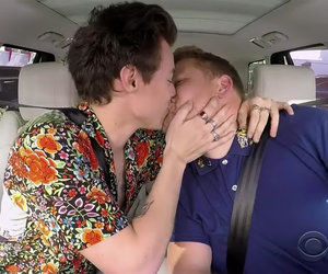 James Corden Kisses Harry Styles In Celebrity-Packed Carpool Karaoke Holiday Mashup