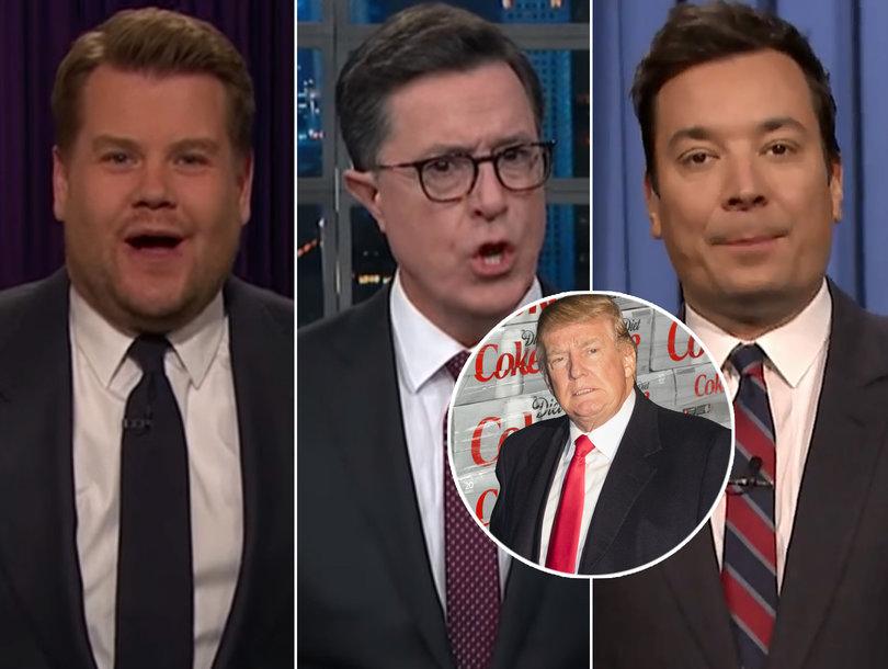 Late-Night Hosts LOL at Donald Trump's Diet Coke Addiction