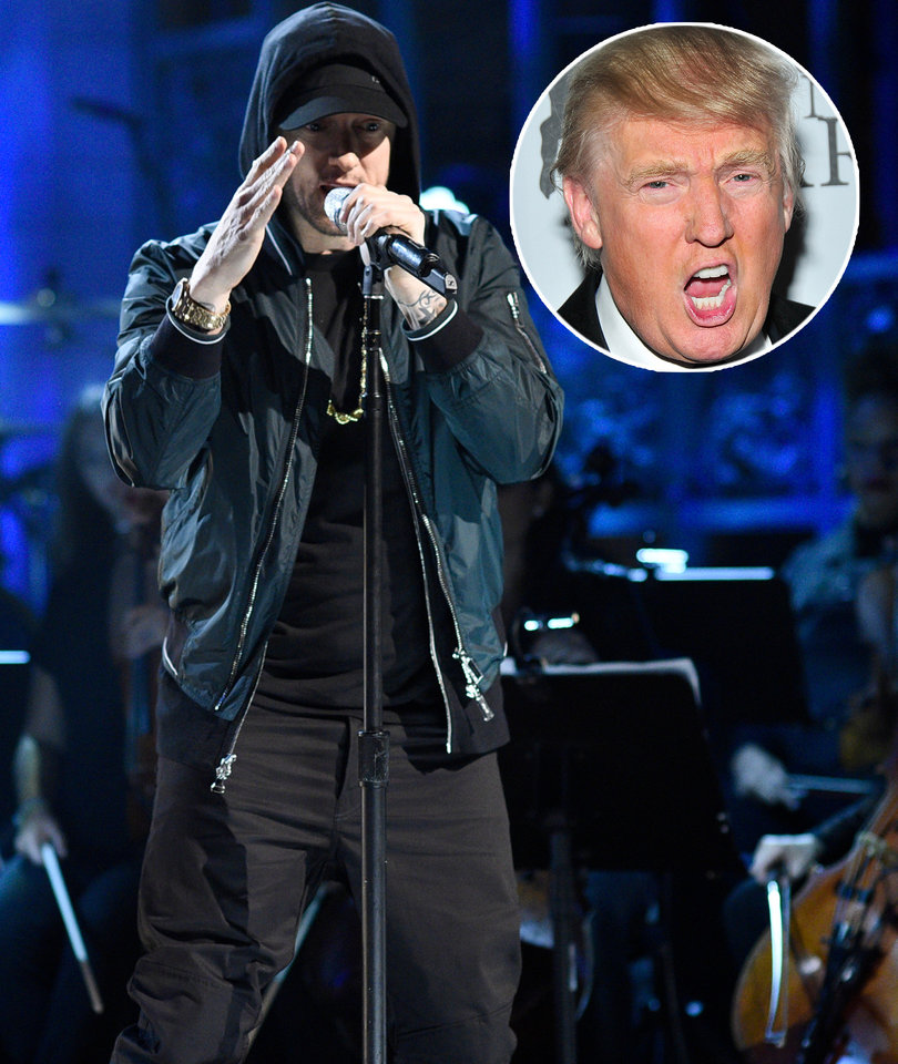 Eminem Compares Donald Trump to Hitler on 'Revival'