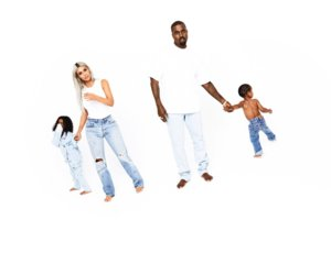 Kim, Kanye, North and Saint West Pose for Family Holiday Card