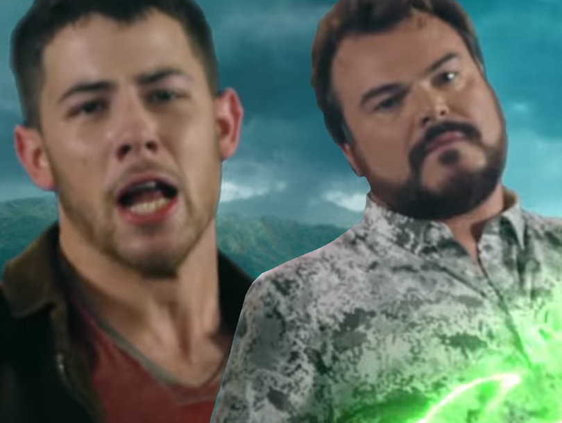Nick Jonas Teams Up With Jack Black for Horrible '80s-Style 'Jumanji' Theme Song
