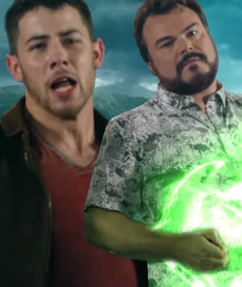 Nick Jonas Teams Up With Jack Black for Horrible 'Jumanji' Theme Song