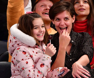 Katie Holmes and Suri Cruise Enjoy Mother-Daughter Date at Knicks Game