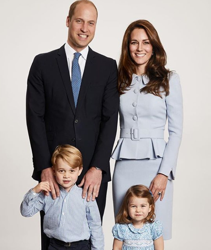 Prince William and Kate Middleton Share Their Family Holiday Card