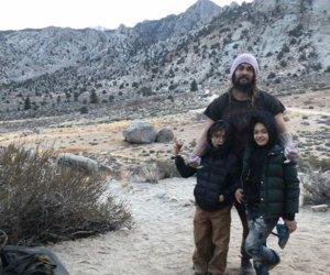 Jason Momoa Takes His Kids Rock Climbing for Christmas