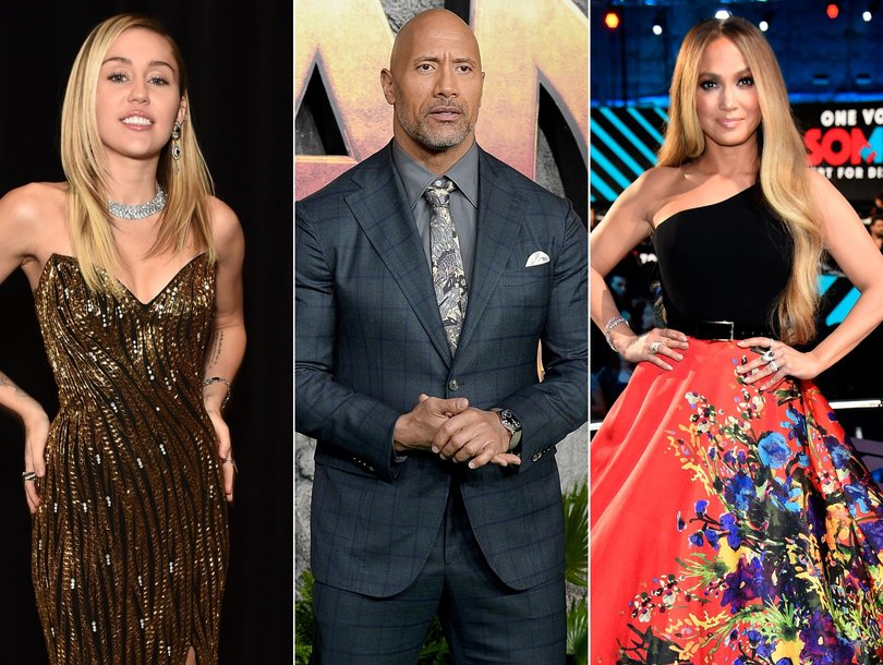 Miley Cyrus, The Rock, Jennifer Lopez and 4 More of Hollywood's Most Adorable Holiday Home Videos