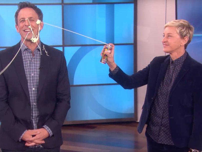 Ellen Puts Golden Globes Host Seth Meyers Through Rigorous Award Show Boot Camp