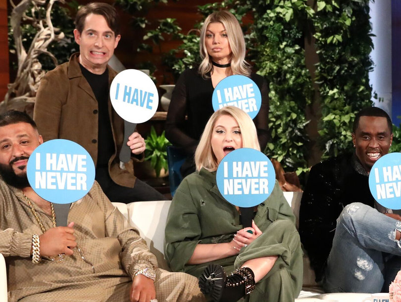 Ellen Plays 'Never Have I Ever' With 'The Four' Judges Diddy, DJ Khaled, Meghan Trainor and Fergie