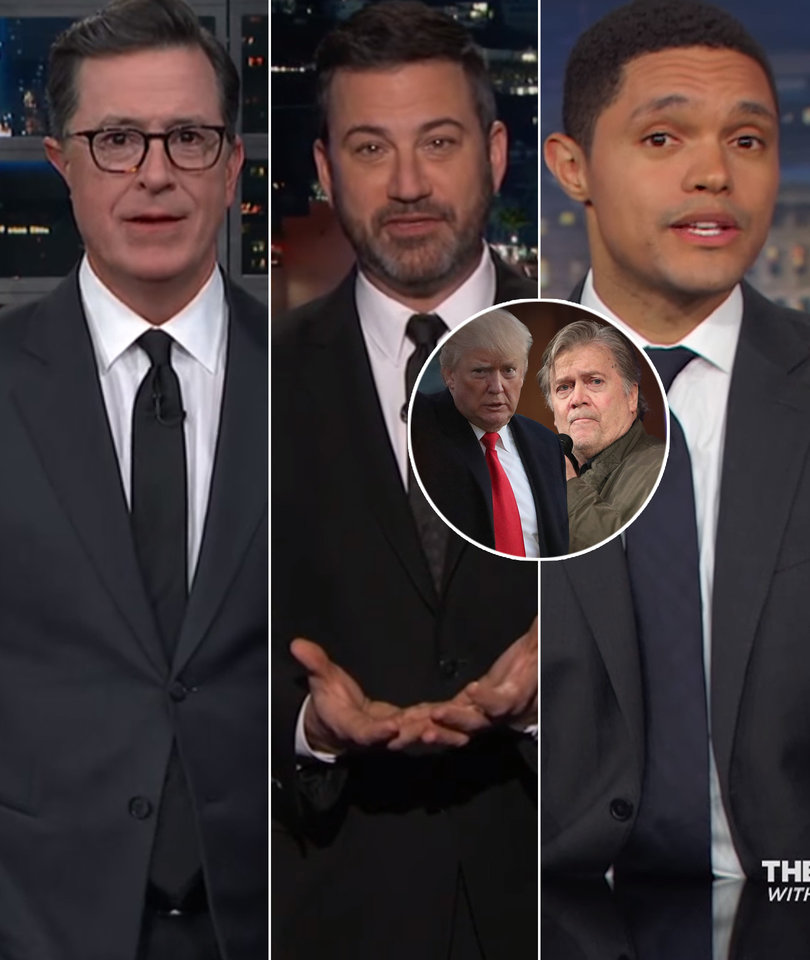Late-Night Stars Can't Get Enough of Epic Trump-Bannon Feud