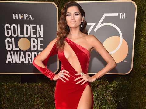 Who Wore a Red Dress to the Golden Globes?