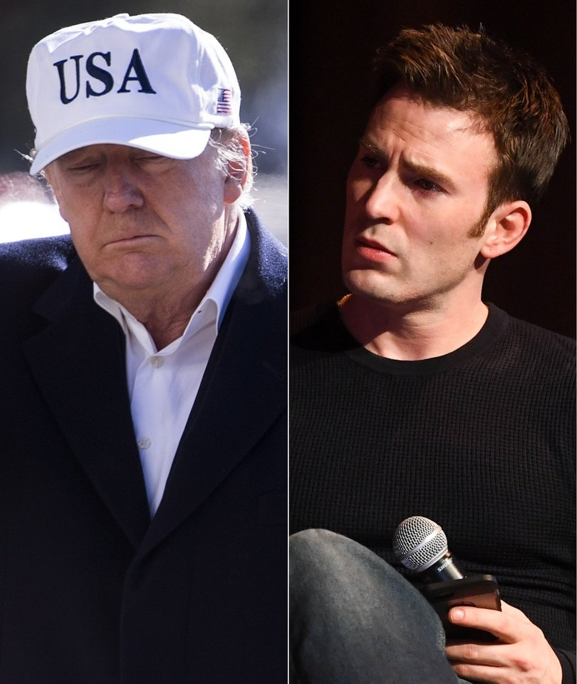 Chris Evans Compares Trump Administration to 'Human Centipede'