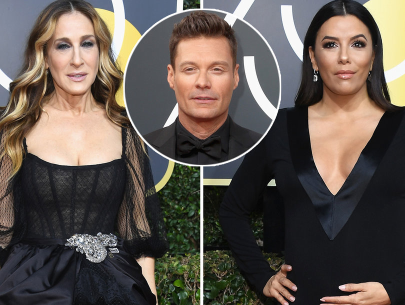 Sarah Jessica Parker, Eva Longoria Shade E! to Ryan Seacrest's Face at Golden Globes