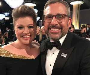Kelly Clarkson 'Finally' Meets Steve Carell at Golden Globes After Party