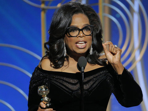 Twitter Ready to Vote Oprah Into White House After Globes Speech