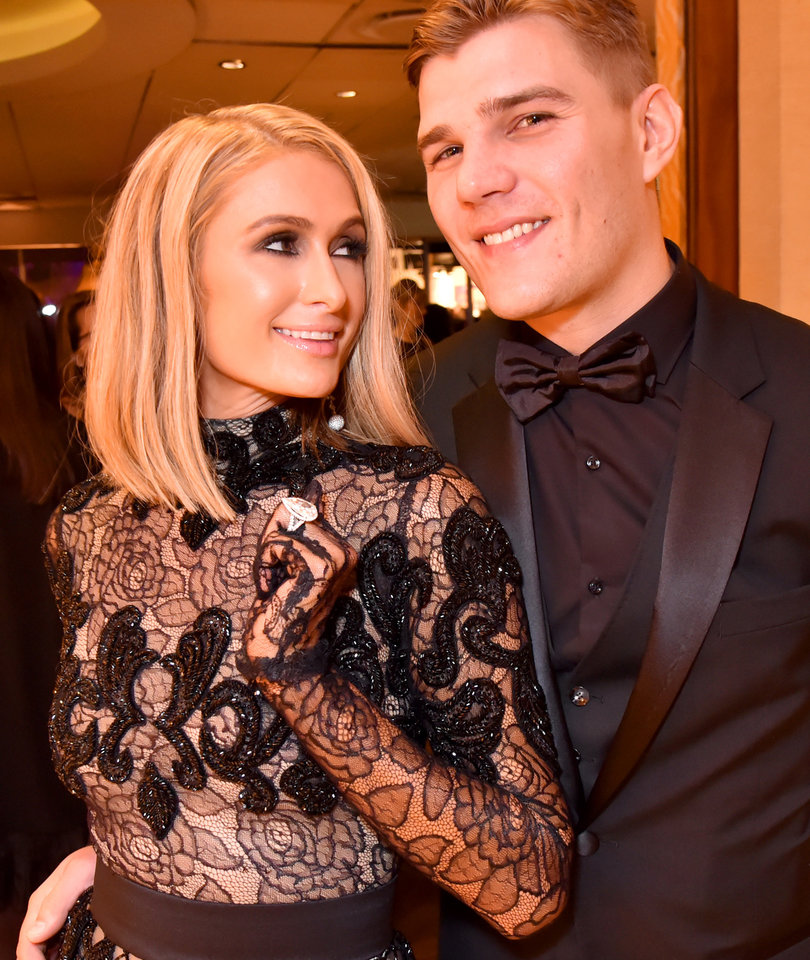 Paris Hilton Flaunts Huge Engagement Ring at Golden Globes After Party