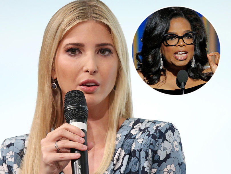 Hollywood and Beyond Rips Ivanka Trump for Praising Oprah's Golden Globes Speech