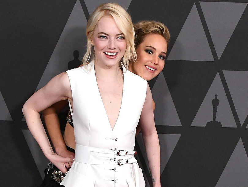 Emma Stone Leaves Jennifer Lawrence Two-Faced After Bailing on Golden Globes Party Date