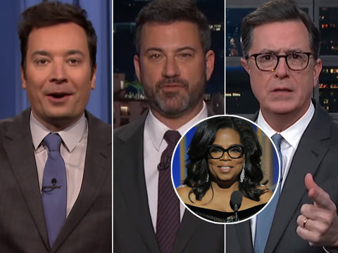 Late-Night Stars Are All About President Oprah Winfrey