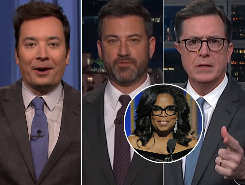 Late-Night Comedians Are All About Oprah Taking 'Demotion' to Become President