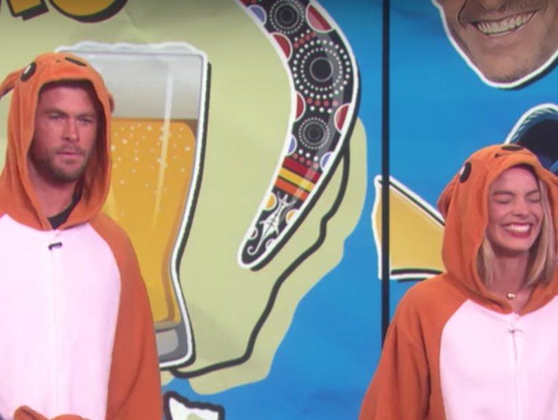 Chris Hemsworth, Margot Robbie Kinda Suck at Australian Trivia on 'Ellen'