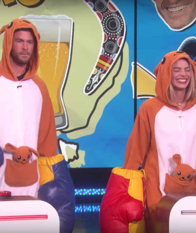 Chris Hemsworth, Margot Robbie Kinda Suck at Australian Trivia on 'Ellen'