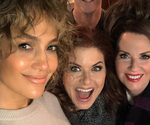 Jennifer Lopez Visits the Set of 'Will and Grace'