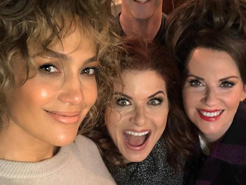 Jennifer Lopez Visits the Set of 'Will and Grace'