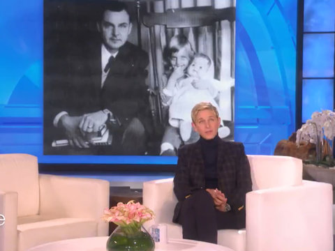 Ellen's Moving Tribute to Late Father: 'I Got a Rainbow Before He Died'