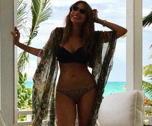 Sofia Vergara Shows Off Her Curves in Leopard Print Bikini