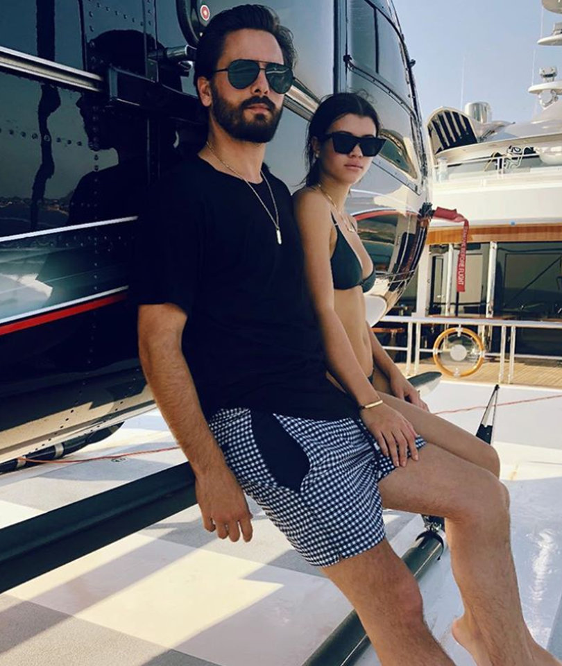 Scott Disick and Sofia Richie Ditch the Yacht and Take the Chopper
