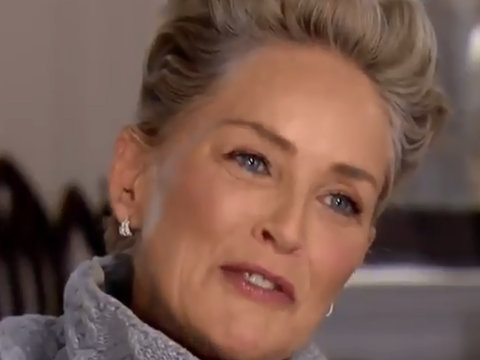 Sharon Stone LOLs in Reporter's Face Over Sexual Harassment