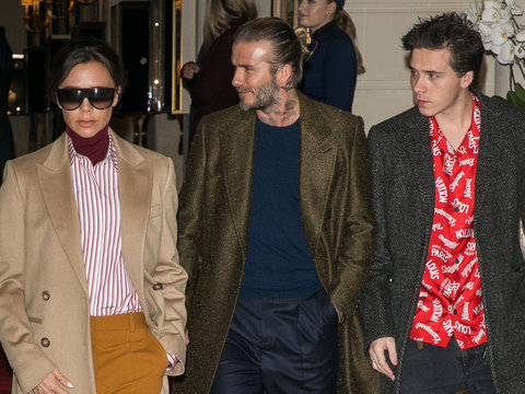 The Beckham Family Step Out Together During Paris Fashion Week