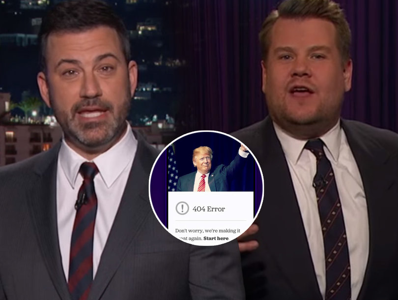 James Corden and Jimmy Kimmel LOL So Hard at Trump's 'Fake News Awards'