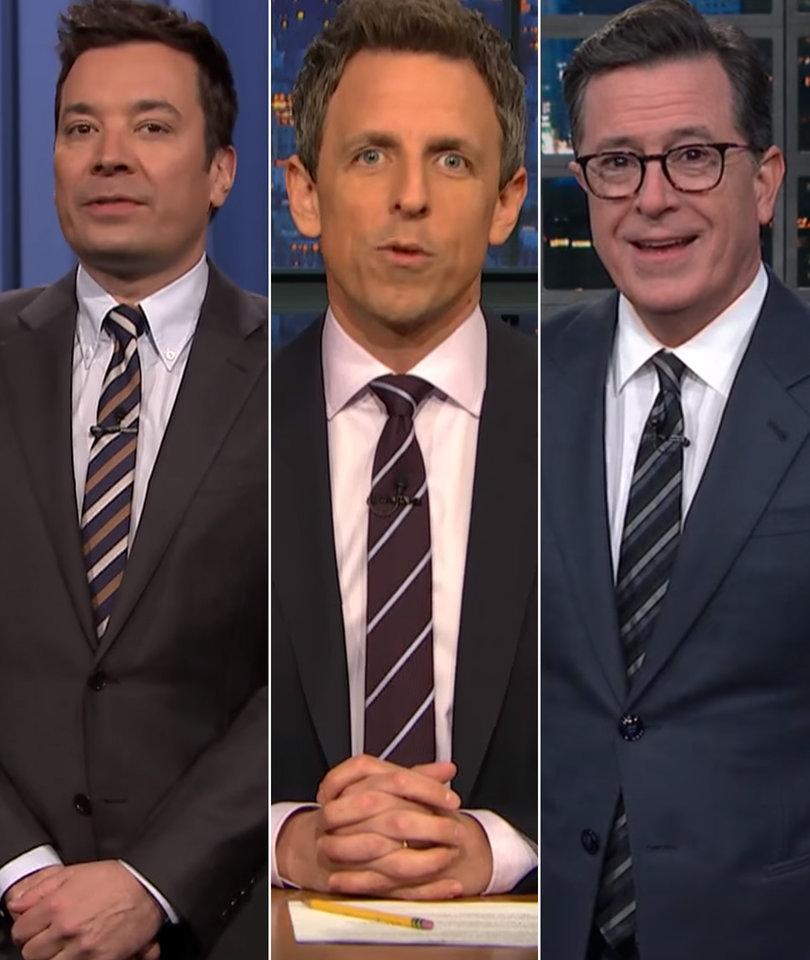 Late Night Notices Melania Ditch Trump on Wedding Anniversary