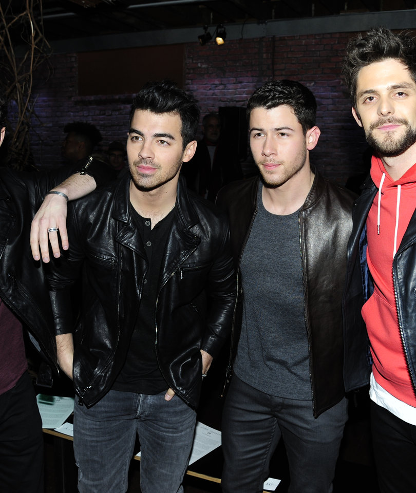 Jonas Brother Reunion In NYC for John Varvatos Fashion Show