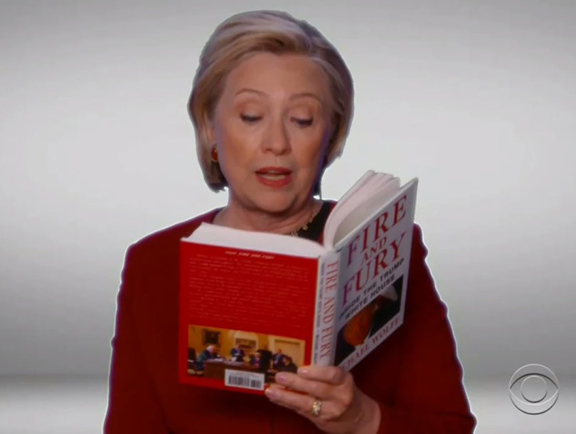 Hillary Clinton's Grammys 'Fire And Fury' Diss Riles Up Trump Administration, Rallies Supporters