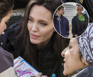Shiloh and Zahara Join Angelina Jolie on Humanitarian Trip to Syrian Refugee…